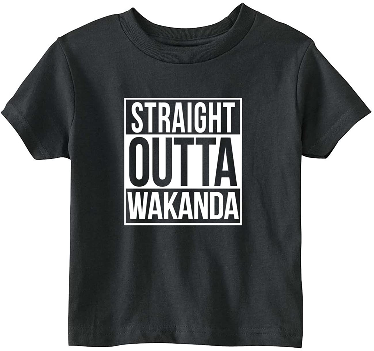 NorthStarTees Black Panther Baby One Piece Straight Outta Wakanda Bodysuit