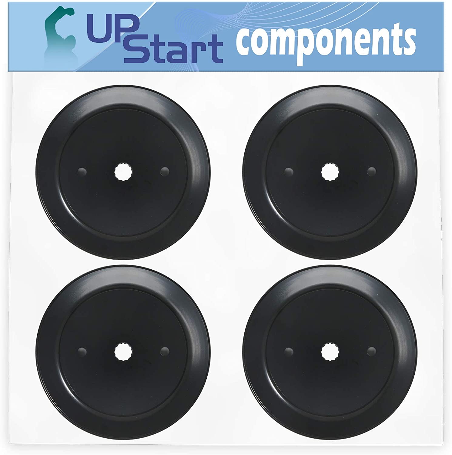 UpStart Components 4-Pack 532195945 Spindle Pulley Replacement for Craftsman 917T287121 Lawn Tractor - Compatible with 195945 197473 Mandrel Pulley