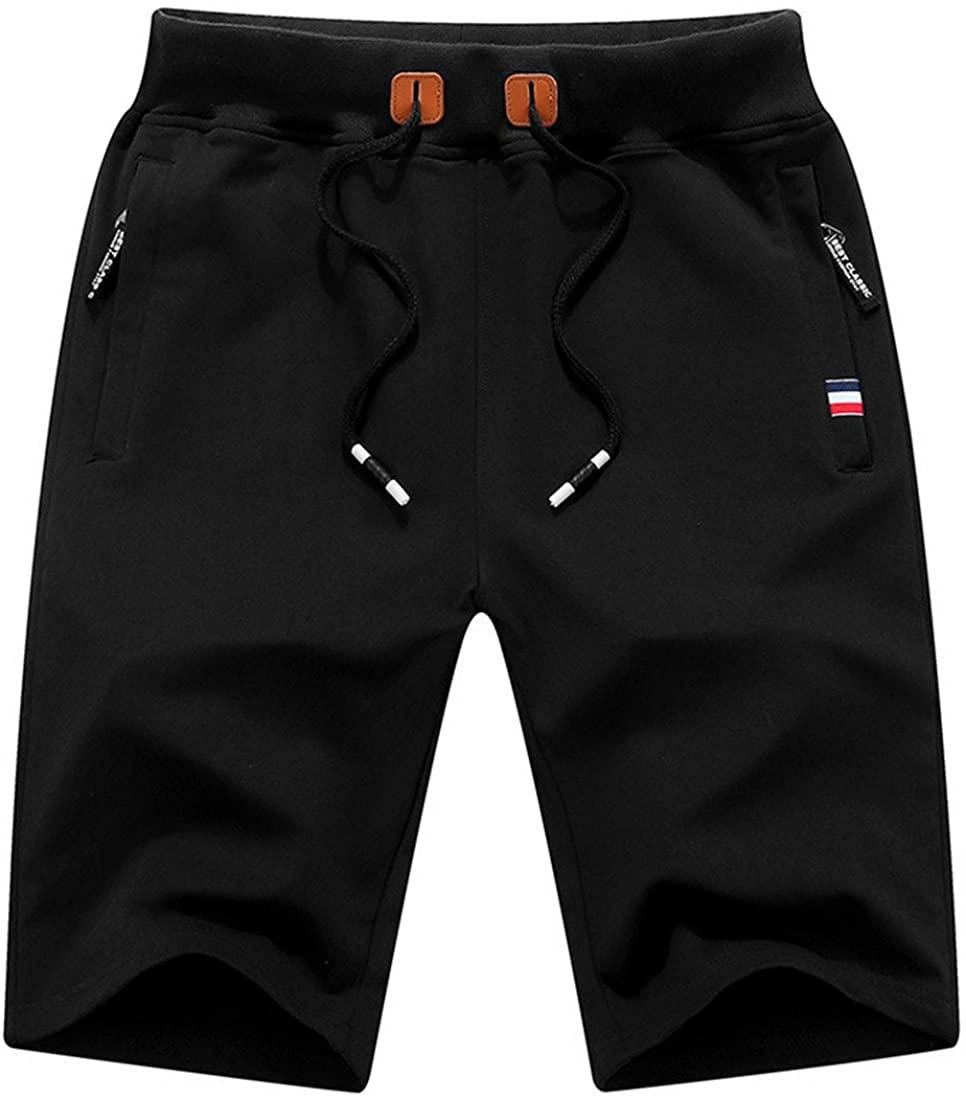 Luckywe Men's Camo Cargo Shorts Summer Run Sandy Beach Loose Short Pants Casual New