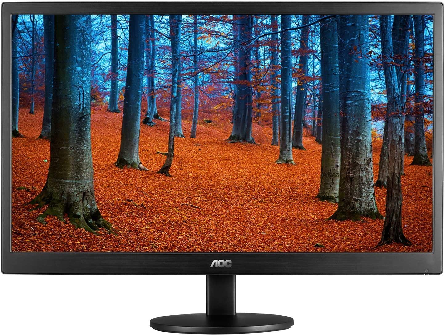 AOC e970swn 18.5-Inch LED-Lit Monitor, 1366 x768 Resolution, 5ms, 20M:1 DCR, VGA, VESA