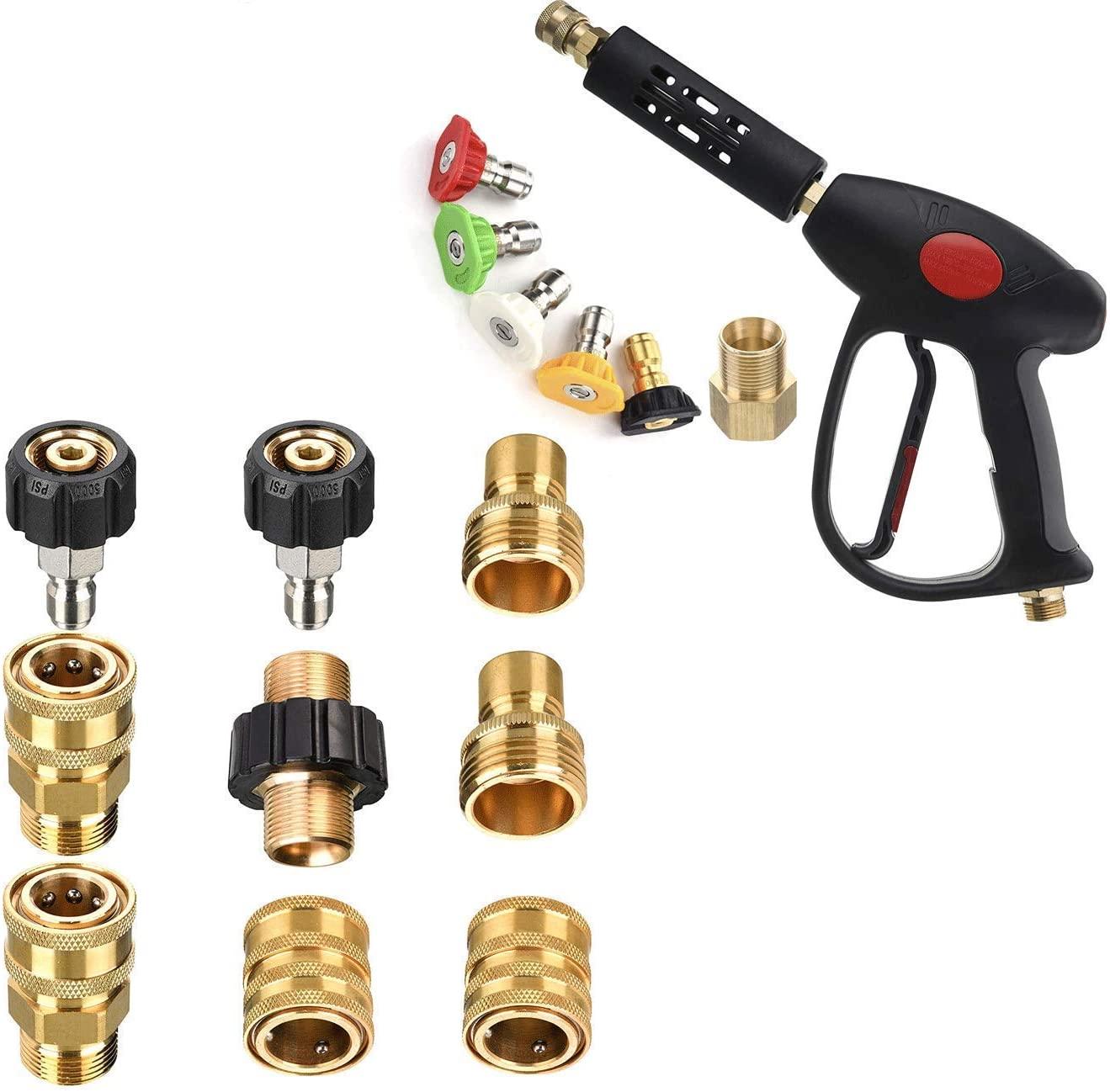 Tool Daily Pressure Washer Adapter Set, Short Pressure Washer Gun, M22