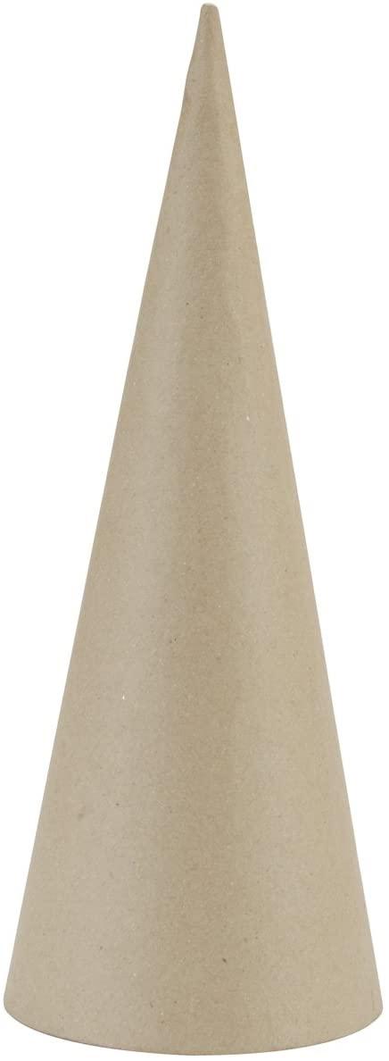 DARICE 2873-311 Paper Mache 5m Open Bottom Cone Craft Supplies, 10.63 by 4-Inch