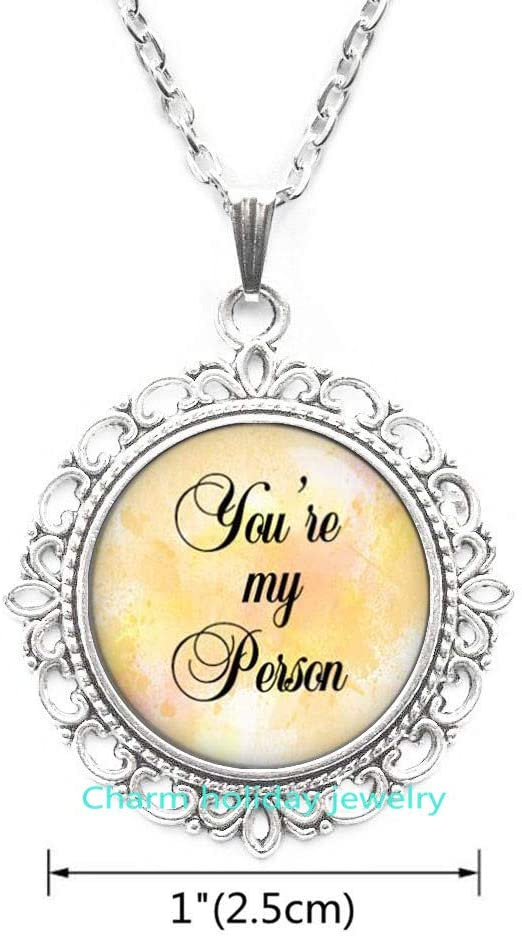 Youre My Person Necklace BFF Necklace Sister Gift for Friend Jewelry Birthday Necklace I Love You Gift-#313