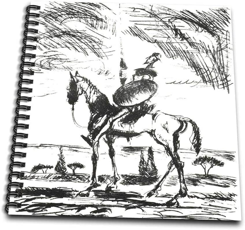 3dRose db_78688_3 Don Quixote- Don Quixote, Spanish, Literature, Novel, Fiction, Fictional Spanish, People, Man-Mini Notepad, 4 by 4