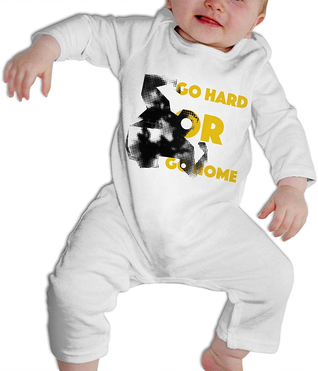 SARA NELL Baby Boys & Girls Bodysuit Go Hard Go Home Pug Dog Weight Lifting Jumpsuit Onesies Long Sleeve