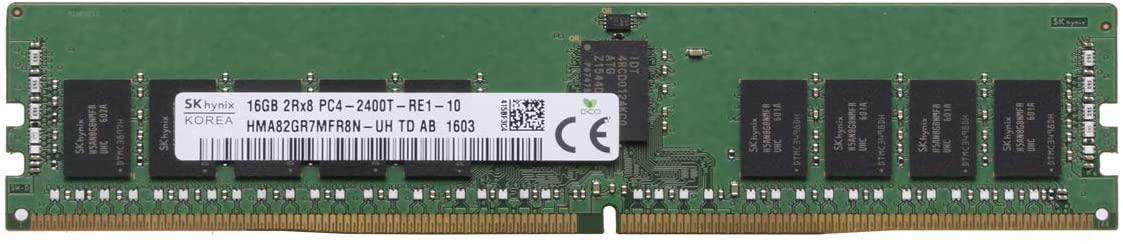 SK HYNIX 16GB HMA82GR7MFR8N-UH DDR4-2400 ECC RDIMM 2Rx8 PC4-19200T-R CL17 Server Memory