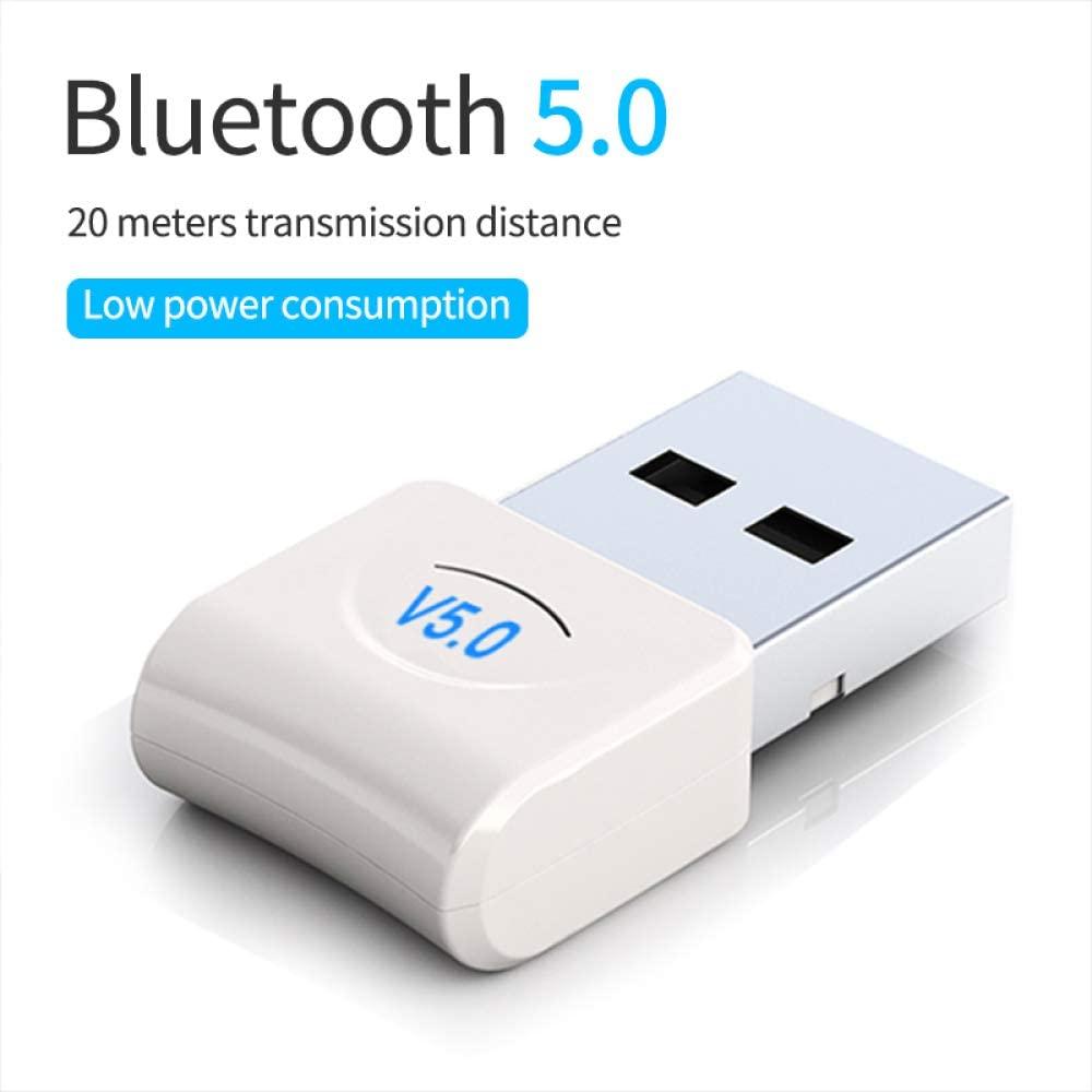 LFJNET ABS Material 5.0 Computer USB Bluetooth Adapter Desktop Dongle USB Bluetooth Adapter for PC Desktop Laptop Computer White