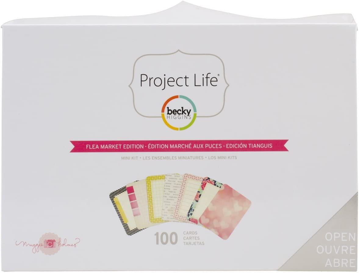 Becky Higgins 380184 Project Life Mini Kits MH-Flea Market (100 Pieces)