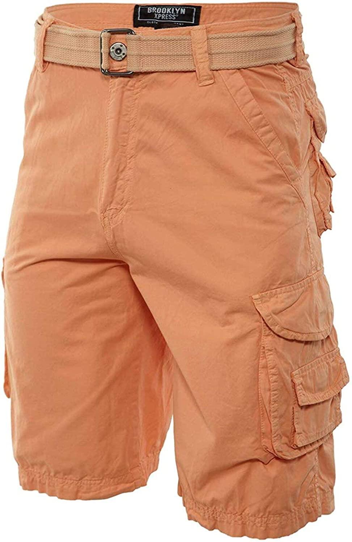 Brooklyn Xpress Bermuda Cargo Shorts with Belt Mens Style : Bx7018ms