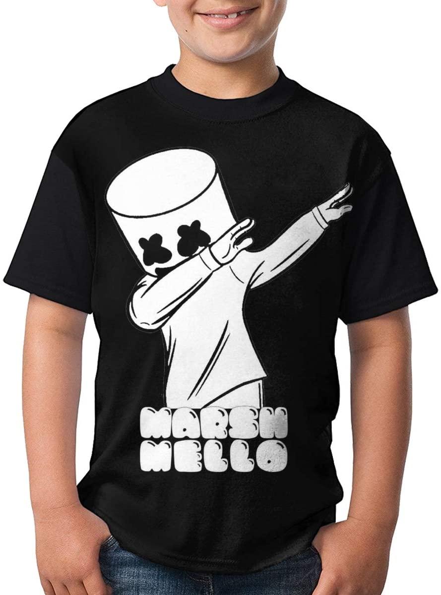 Marsha-Ymello Shirt for Child Fashion Youth Boys Girls Short Sleeve Perfect Kid T-Shirts Small