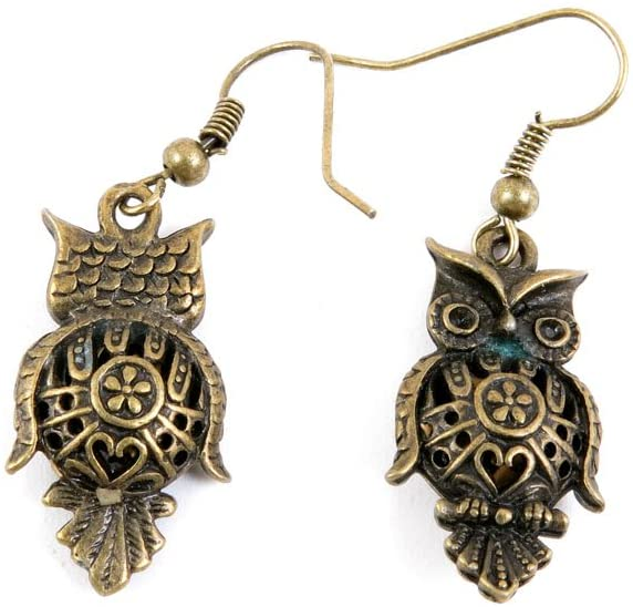 60 Pairs Jewelry Making Charms Supply Supplies Wholesale Fashion Earring Backs Findings Ear Hooks G4NZ7 Hollow Owl
