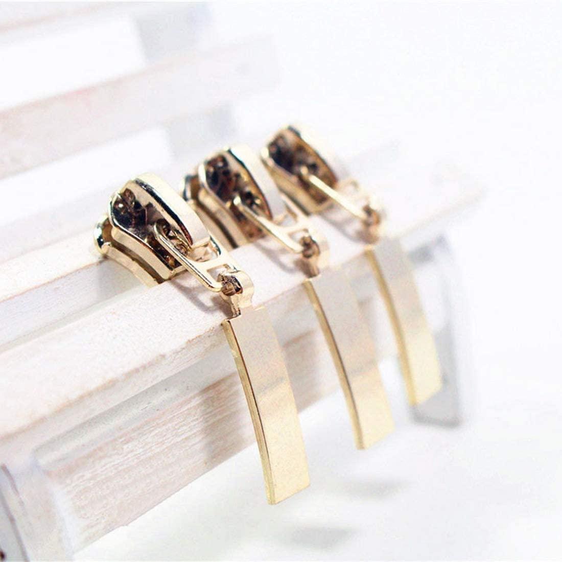 TAYARA 5 Pcs #5 Fashion Zipper Repair kit Bulk Universal Replacement Slider Sewing Hobby Lobby Corset Clothes Bag Jackets Tents Luggage Sleeping for DIY Handwork Clothing Tailor Tools (8. Gold)