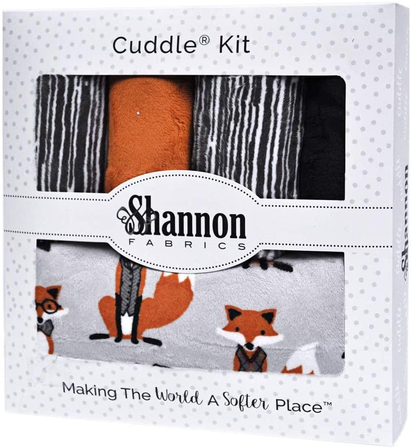Sir Fox Sensational Strips Minky Cuddle Kit Quilt Kit Shannon Fabrics