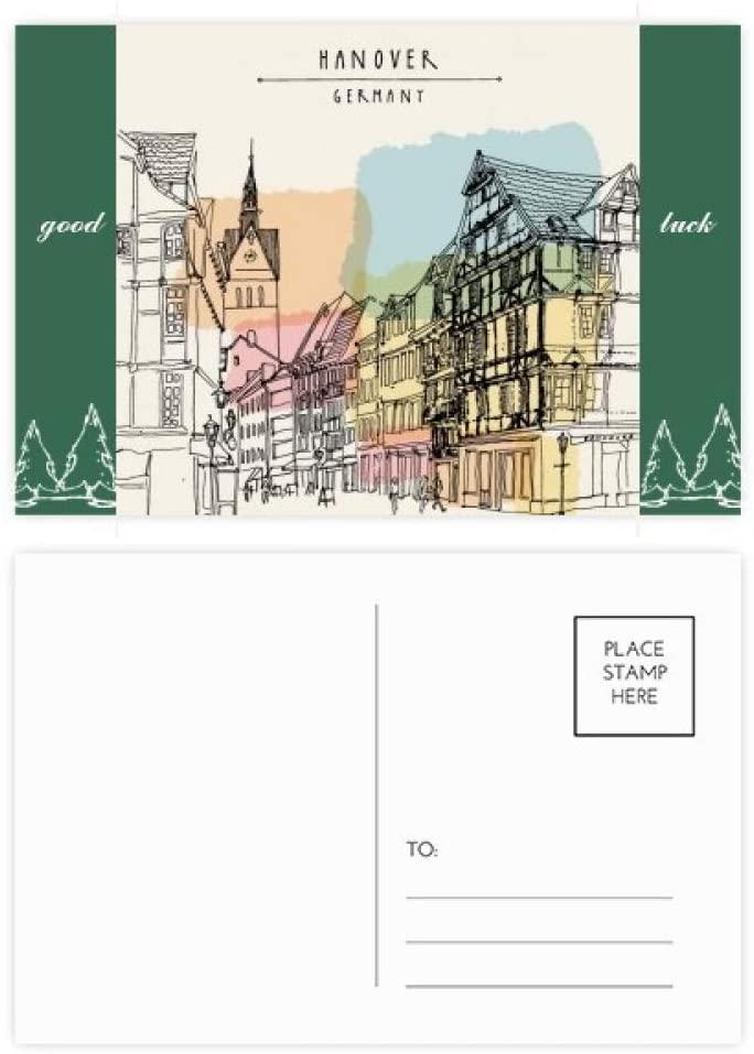 City Germany Hannover Landscape Good Luck Postcard Set Card Mailing Side 20pcs