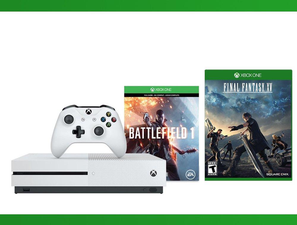 Xbox One S 500 GB Battlefield 1 Console + Final Fantasy XV + WWE 2K16 Bundle ( 3 - Items )