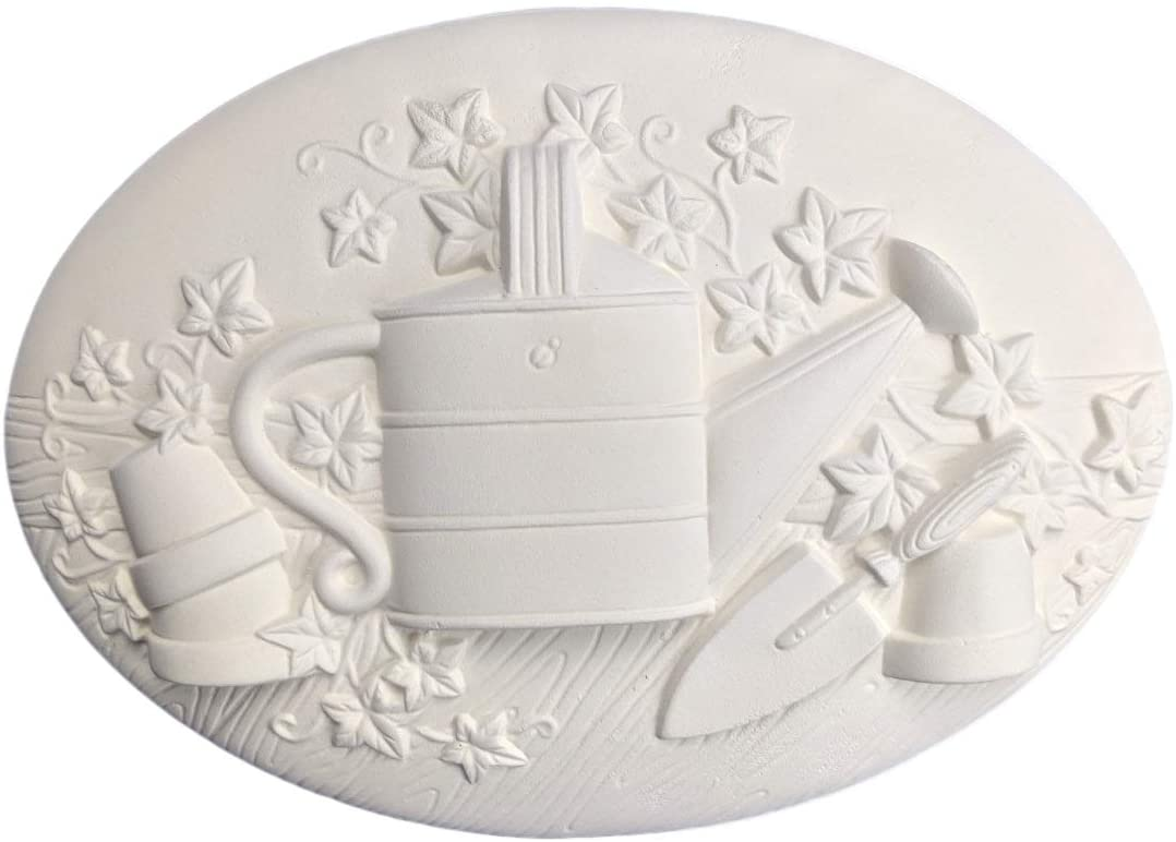 Gardening Seasons Inserts, Set of 2, Ready to Paint Ceramic Bisque - Handmade in The USA