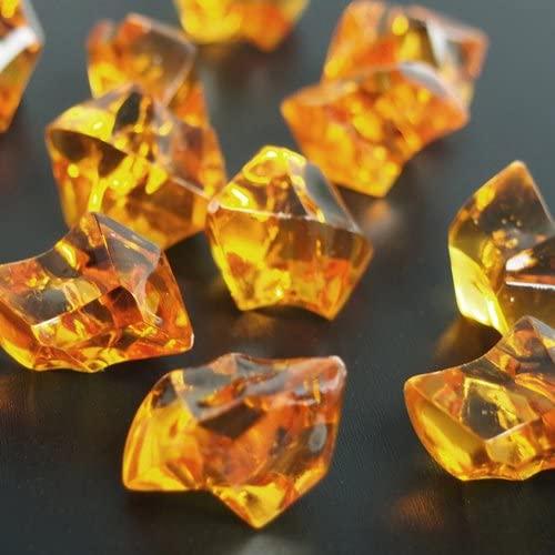 Homeford Firefly Imports Acrylic Ice Rocks Crystal Vase Filler, 1-Inch, 150-Piece, Orange, 1