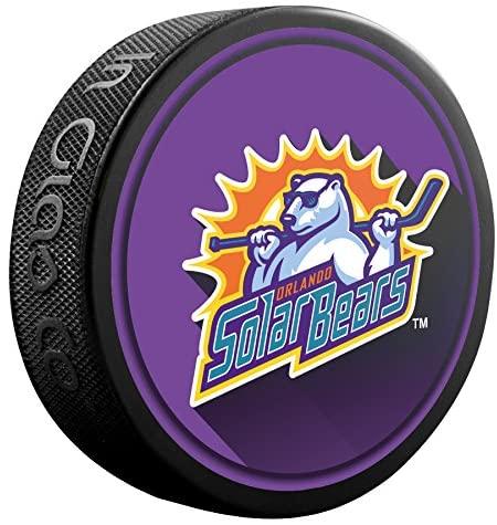 Inglasco Premiere Aa Hockey League (ECHL) Orlando Solar Bears Souvenir Puck Skorlando Solar Bears Souvenir Puck, Black, One Size