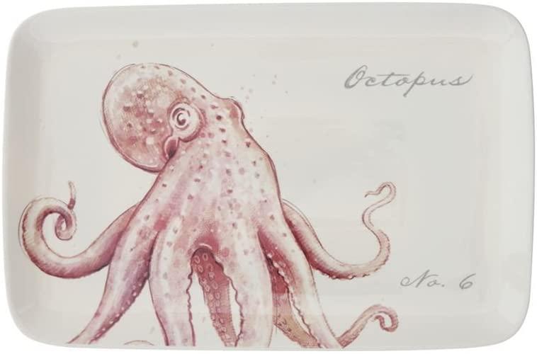 Creative Co-Op Octopus Stoneware Platter 15