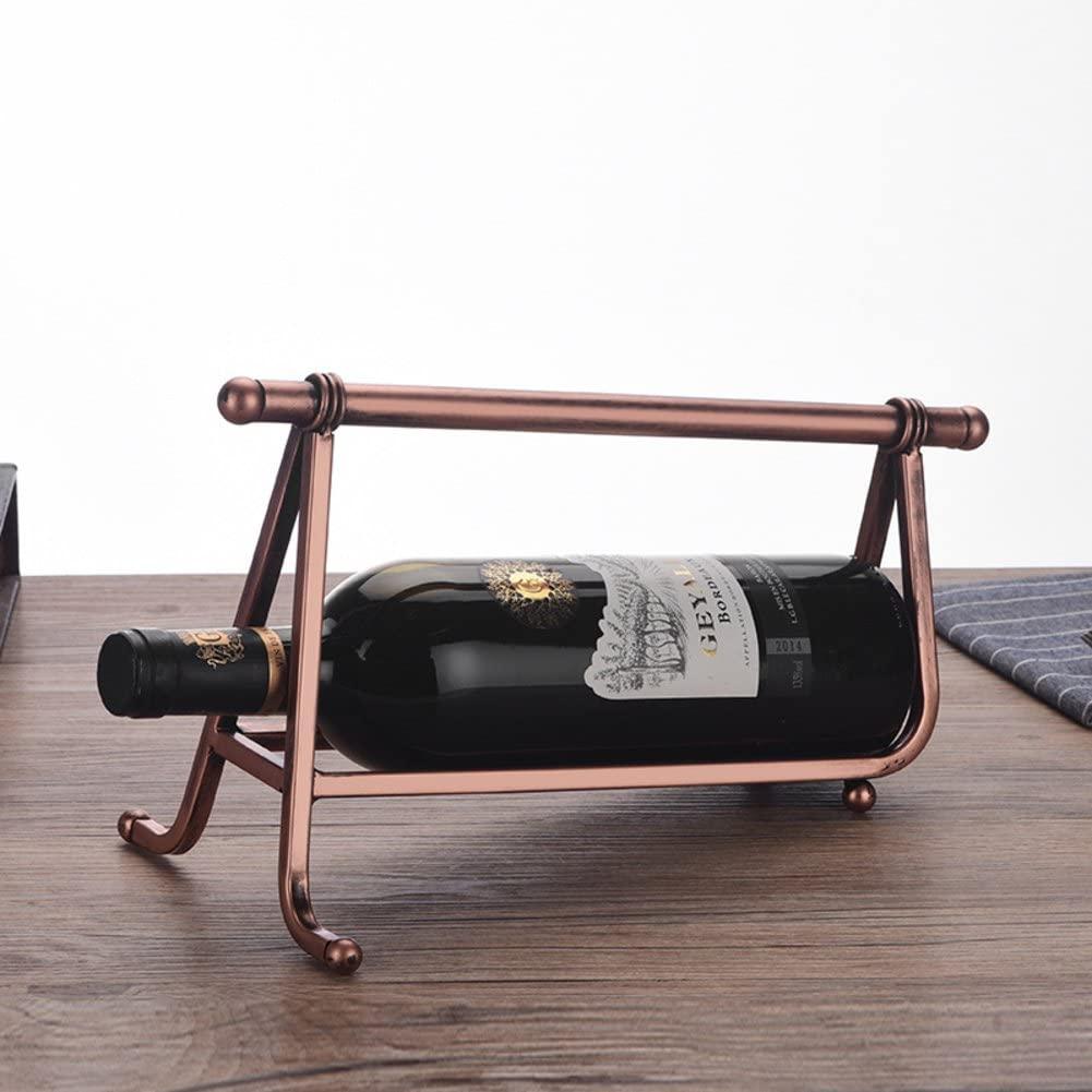 TY&WJ European Style Creative Wine Bottle Holder Metal [Household] [Decoration] Wine Rack Wine Display Stands Gifts-B