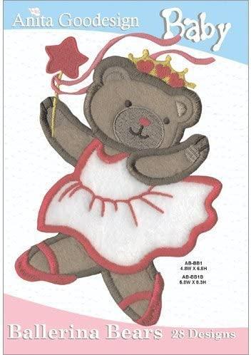 Anita Goodesign Embroidery Designs Baby Ballerina Bears