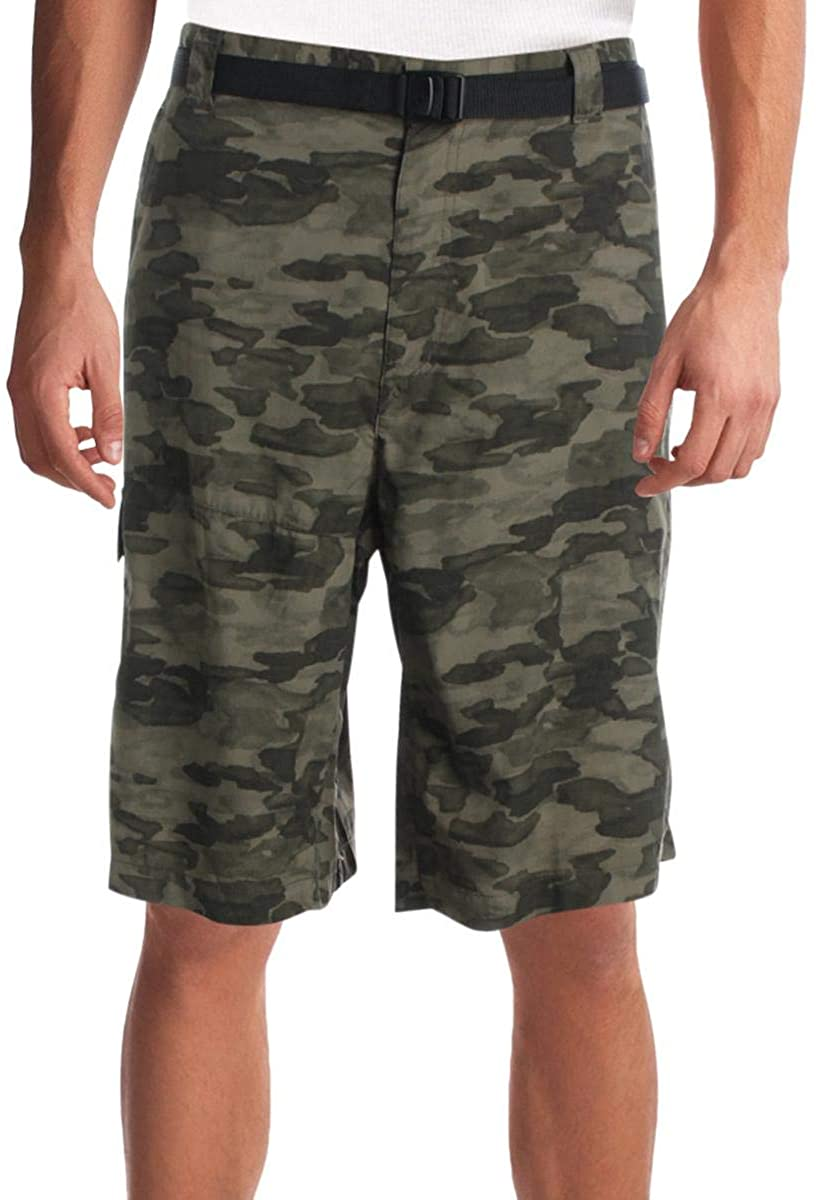 Columbia Men's Battle Ridge II Camo-Print Cargo Shorts 40/INS 11/50/ENTR 11 Green CAMO