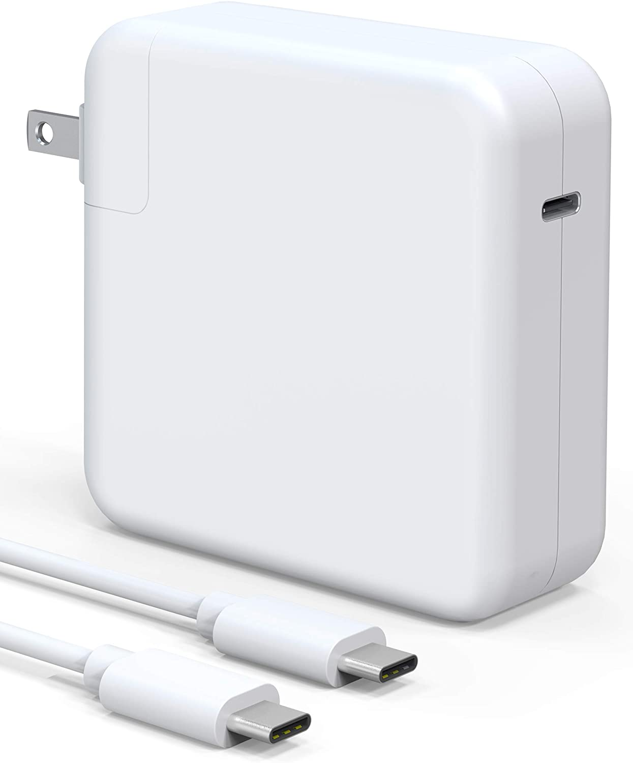 96W USB-C Power Adapter, Compatible with Macbook Pro & Air Charger, Works With USB C 96W & 87W & 61W & 30W & 29W PD Power Delivery Fast Charging For Macbook Pro 13 15 16 2016Late Mac Air 2018Late