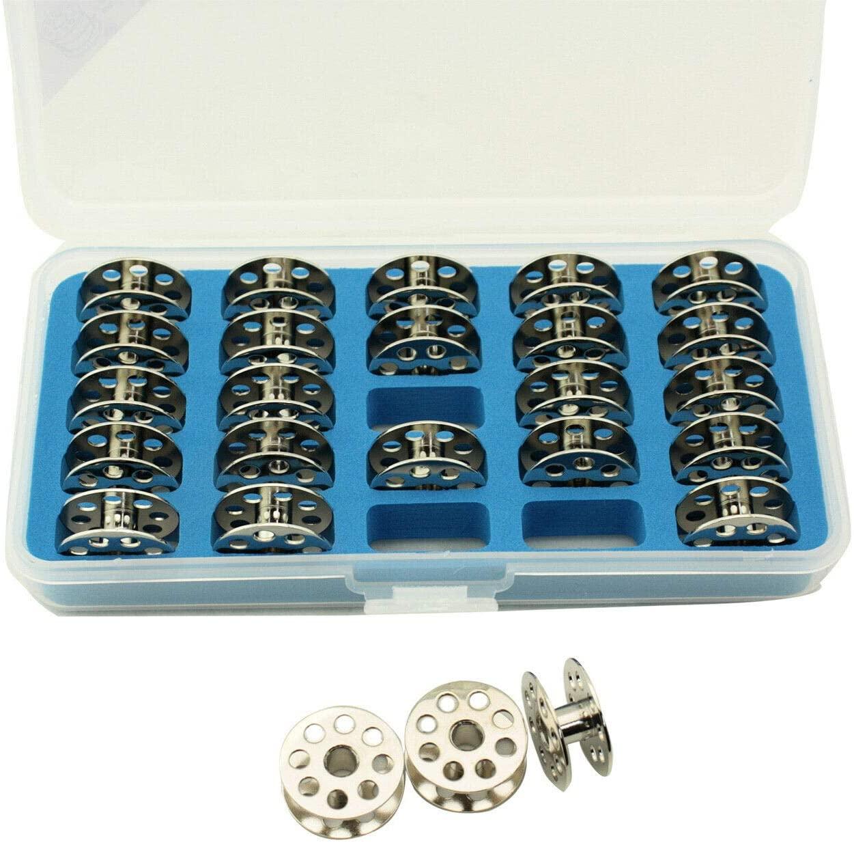 Cutex Pack of 25 Juki DU-141, DU-1181N Bobbins with Storage Case