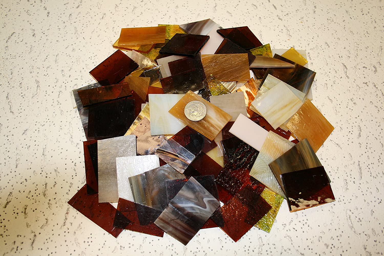 Amber Tones Mix Value Pack - Stained Glass/Mosaics (3 Pounds)