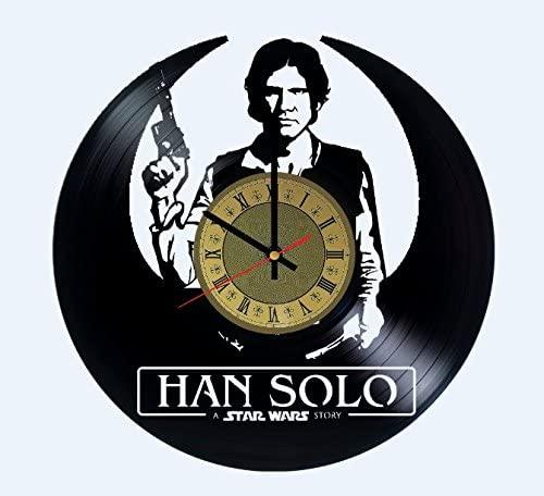 Han Solo Vinyl Wall Clock Millennium Falcon Unique Gifts Living Room Home Decor