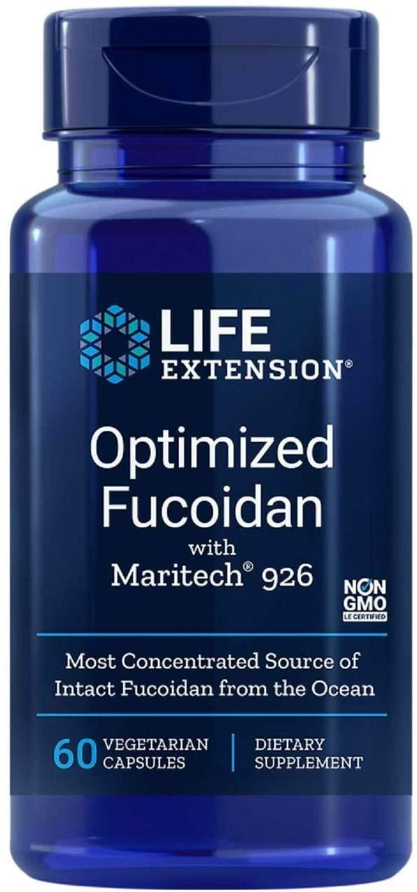 Life Extension Optimized Fucoidan with Maritech 60 VegiCaps (Pack of 2)
