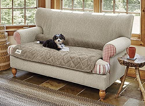 Orvis Grip-Tight Quilted Furniture Protector with Zip-Off Bolster/Only Sofa Protector