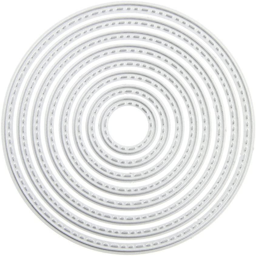 ZbFwmx Circle Cutting Dies Stencil DIY Scrapbook Album Paper Card Embossing Tool (Circle)