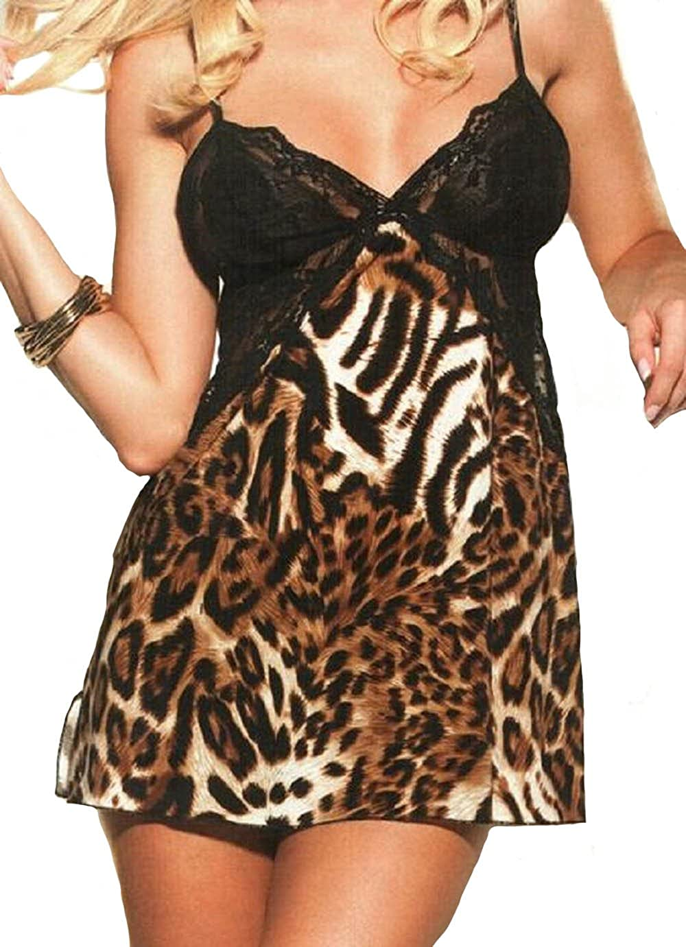 Shirley of Hollywood Animal Knit Chemise 3243