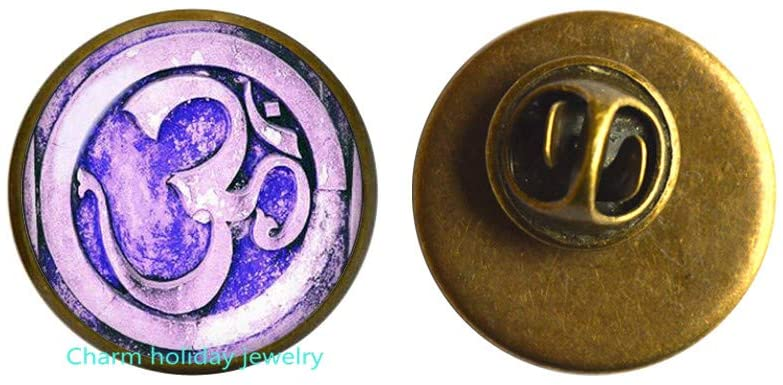 Sound of Creation OM Brooch Yoga Brooch Buddhism Brooch Buddhist Jewelry OM Mantra Brooch Jewelry Meditation Brooch-#311