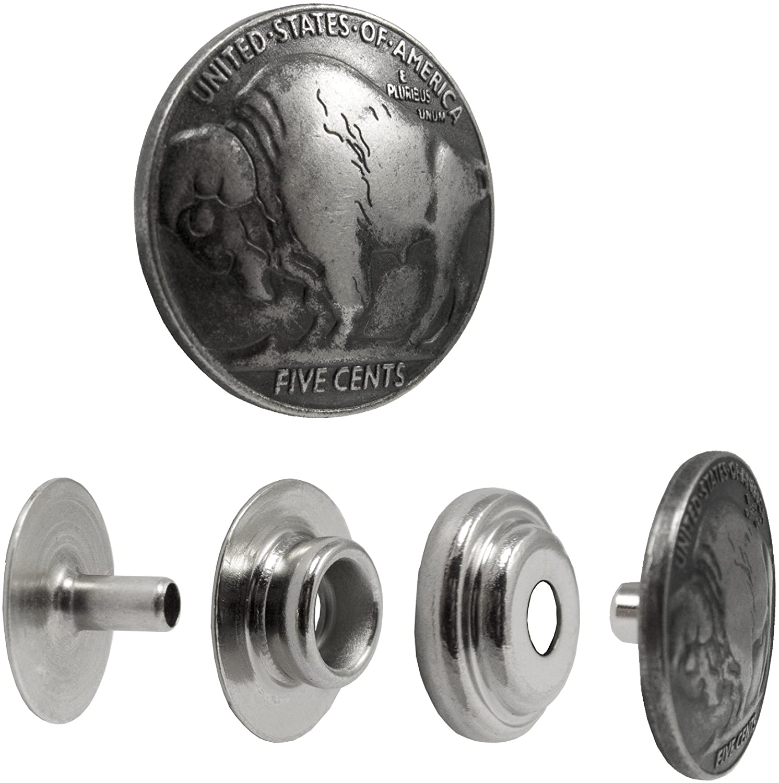 Decorative Buffalo Nickel Snap