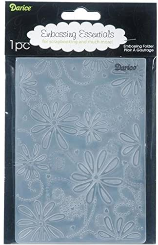 Darice Embossing Folder, 4.25 by 5.75-Inch, Large Petals