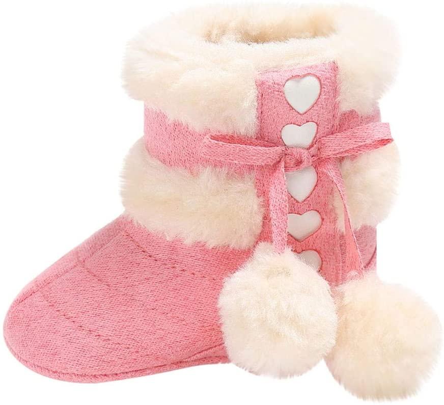Luonita Winter Warm Baby Boots Premium Soft Sole Prewalker Newborn Infant Boy Girl Crib Shoes Snow Boots Crib Shoes for 0-18 Months Unisex Newborn Infant Baby Boys Girls