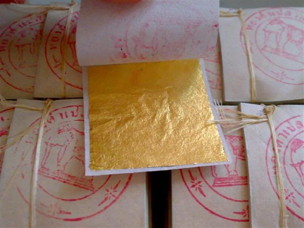 Gold Leaf Sheets 999/1000 Real Gold : 100 Gold Leaf Sheets