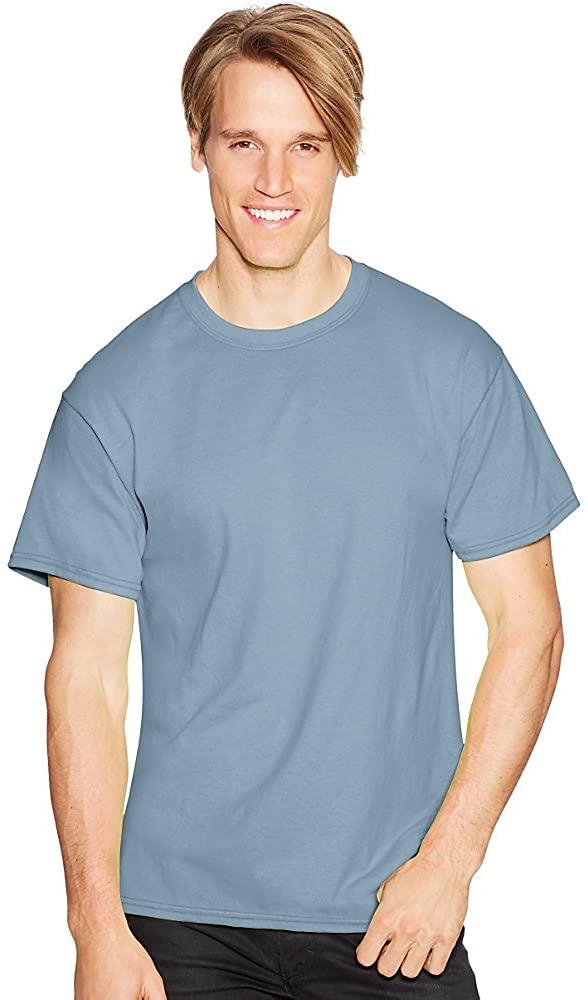 Hanes ComfortBlend EcoSmart Crewneck Men's T-Shirt_Stonewashed Blue_2XL