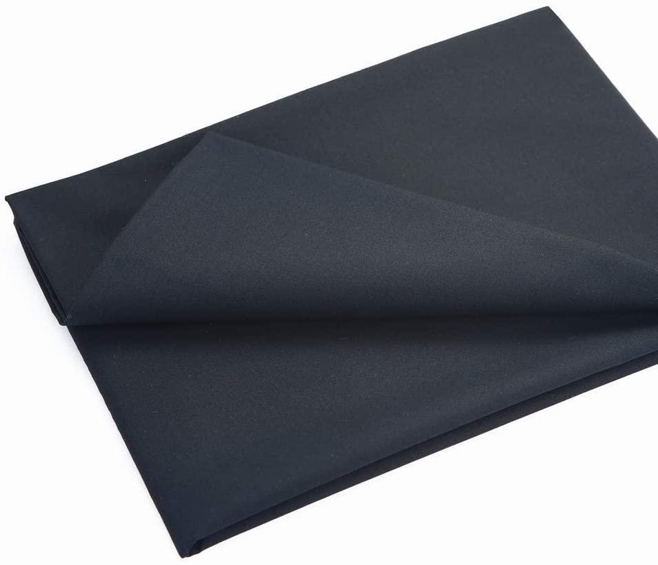 MasterFAB -Cotton Fabric 100% Cotton Poplin Fabric by The Yard for Sewing DIY Crafting Fashion Design Printed Floral Washable Cloth; 1 Piece Full Width cuttable 39 x 55 inches (100x140cm) (Black)