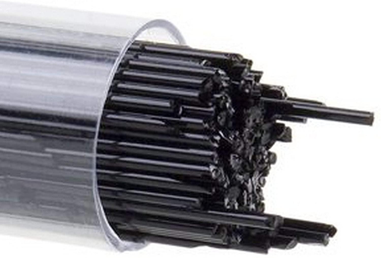 Bullseye 2mm Stringer Black - 90 COE - By Stallings Stained Glass