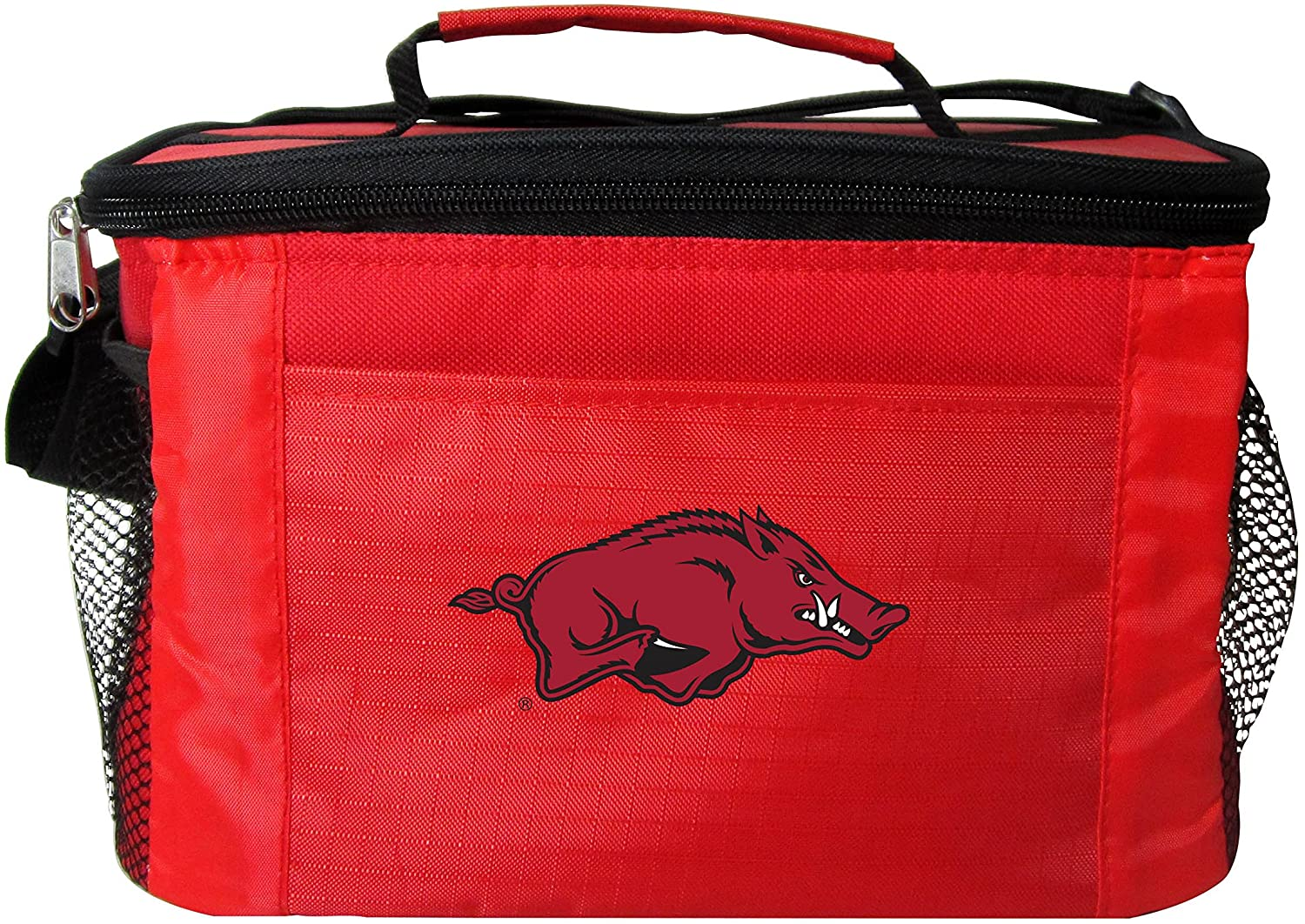NCAA Arkansas Razorbacks Insulated Lunch Cooler Bag with Zipper Closure, Red