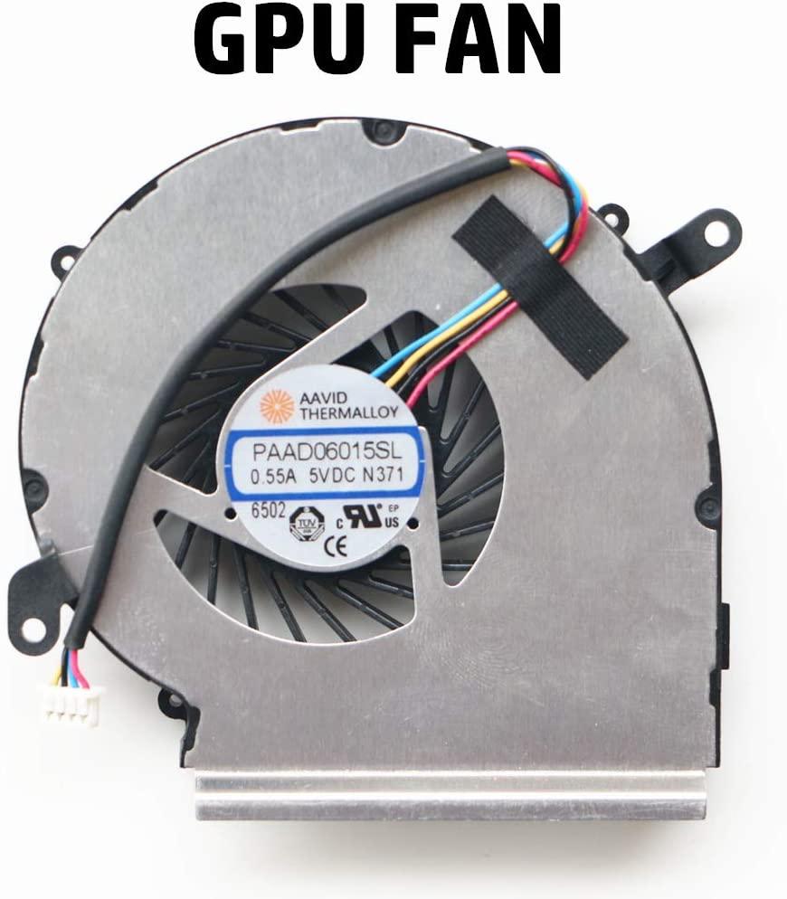 NBFAN Laptop Replacement Part for MSI GE62VR GL62VR GP62VR GL62M MS-16JB MS-16J8 MS-16J9 GPU Cooling Fan (GPU Fan)