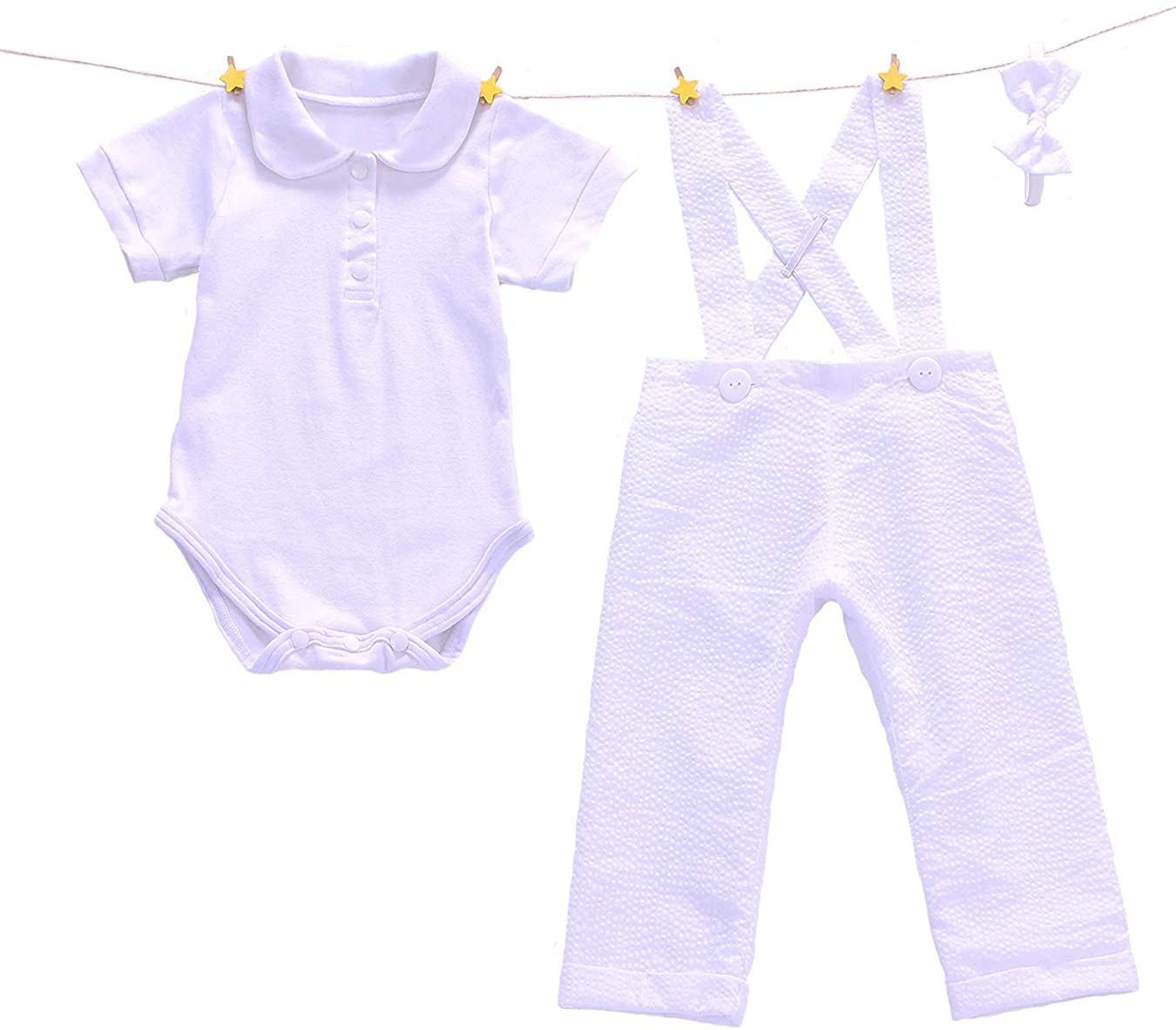 Euro Bear White Baby Boys Baptism Christening Outfit Suit