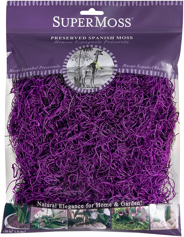 SuperMoss (26962) Spanish Moss Preserved, Purple, 4oz
