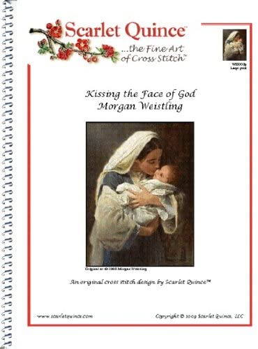 Scarlet Quince WEI001lg Kissing the Face of God by Morgan Weistling Counted Cross Stitch Chart, Large Size Symbols