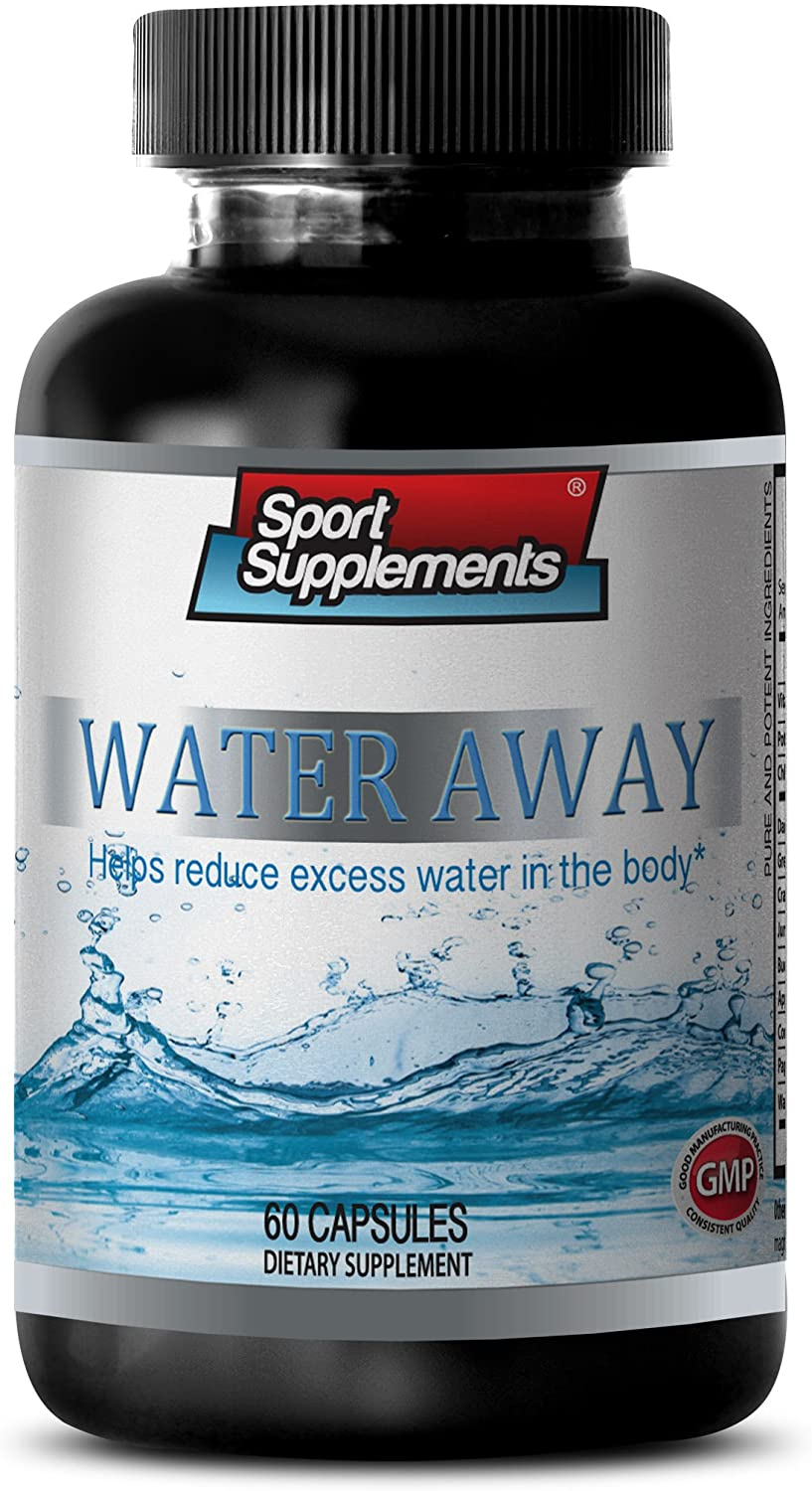 Urinary Health - Water Away Natural Diuretic Complex - Fat Burners for Weight Loss - 1 Bottle 60 Capsules