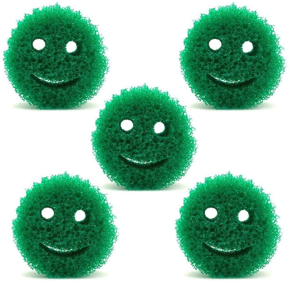 Purelemon Pool Scum Sponge - 5PCS Reusable Oil Absorbing Sponge Cleaning Sponge for Swimming Pool Hot Tubs Spa, Absorbs Oil Slime Grime and Scum - Green/White Random Colors