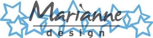 Marianne Design Creatables Lots of Stars Die, 18.5 x 8.4 x 0.2 cm, Blue
